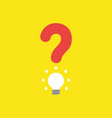 icon concept of question mark with glowing light vector image