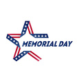 memorial day star made ribbon in national flag vector image vector image