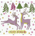 merry christmas drawing vector image vector image