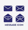 message open and closed envelope icon set on vector image vector image