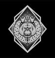 orang utan king vector image