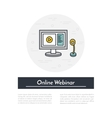 outline of webinar online vector image