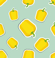 paprika pattern Seamless texture with ripe sweet vector image vector image