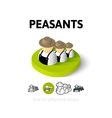 Peasants icon in different style vector image vector image