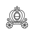 pumpkin carriage line style fairy vector image vector image