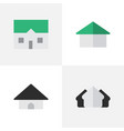 set of simple property icons vector image