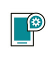 smartphone setting web development icon line and vector image