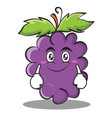 smile grape character cartoon collection vector image vector image