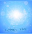 sun shines bright in summer vector image