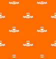 urban food pattern orange vector image vector image