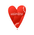 valentine flat picture of red heart with vector image vector image