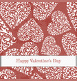 valentines day card with heart in retro style vector image vector image