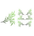vintage set of hand drawn tree branches vector image vector image