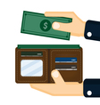 wallet design vector image