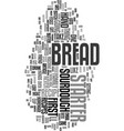 would you like to learn how to bake bread text vector image vector image