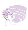 young women Bohemian chic outfit gesture sketch vector image vector image