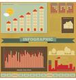 Vintage infographics set - House Construction vector image