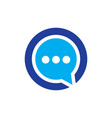 circle messenger communication logo vector image