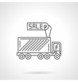 Truck for sale icon flat line design icon vector image