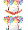 Balloons with Banners2 vector image