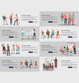 business training seminars set of posters vector image