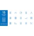 15 mathematics icons vector image vector image