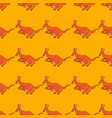 a seamless repeating pattern of cheerful kangaroo vector image