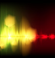 abstract equalizer background yellow-red wave vector image vector image
