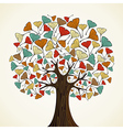 Abstract ginkgo autumn tree vector image vector image