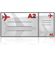 airplane ticket vector image