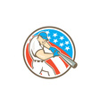 American Baseball Player Batting Circle Cartoon vector image vector image