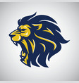 angry lion head logo vector image