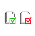 approve file icon vector image
