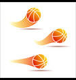 basketball moving set vector image vector image