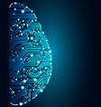 big data and artificial intelligence brain concept vector image