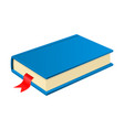 blue book with bookmark vector image vector image