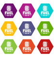 canister icons set 9 vector image vector image