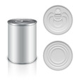 Canned metal packaging template for your vector image vector image