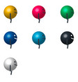 cartoon character billiard ball side view vector image