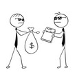 cartoon of two agents spies business men selling vector image vector image