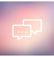 Chat thin line icon vector image vector image
