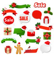 christmas ribbon set vector image vector image