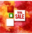 Christmas sale layout with place for Your vector image vector image