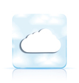cloud app icon on white background Eps10 vector image