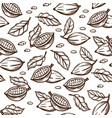 cocoa sketch hand drawn seamless pattern vector image