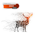 deer dot on white background vector image vector image