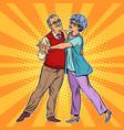 elderly couple dancing vector image