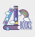 fantasy and magic books vector image