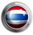 flag of thailand on round badge vector image vector image