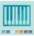 Flat design piano keys vector image vector image